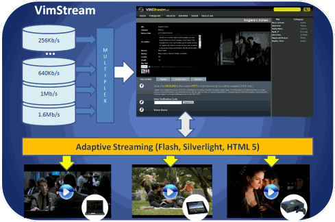 vimstream smooth streaming video platform